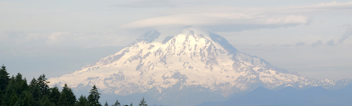Mount Rainier as seen from Pierce College Fort Steilacom